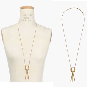 New! Madewell Long Gold Curvelink Pendant Necklace